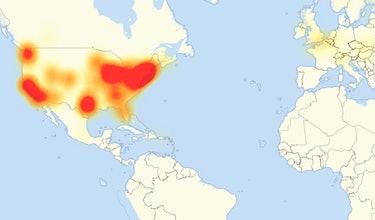 dyn cyberattack map