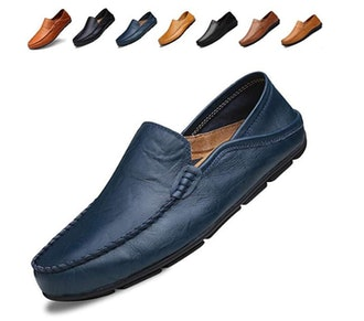 Go Tour Men's Premium Genuine Leather Casual Slip on Loafers Breathable Driving Shoes
