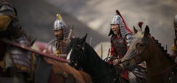 Liu Yifei as Mulan in Disney's live-action Mulan