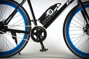 Close-up shot of the bike itself.