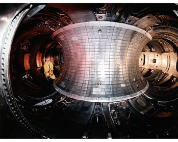 THE TOKAMAK FUSION TEST REACTOR (TFTR).