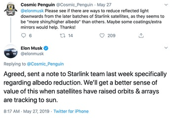 SpaceX CEO Elon Musk responding to concerns.