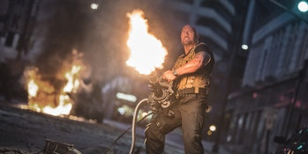 the rock in furious 7