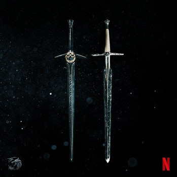 The Witcher Silver and Steel Swords Netflix, wielded by Geralt/ henry Cavil
