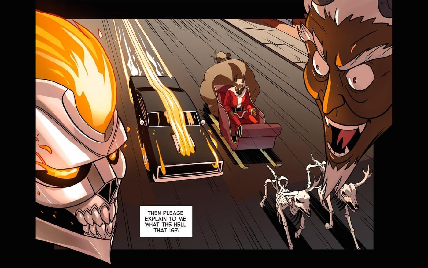 Ghost Rider Christmas Krampus