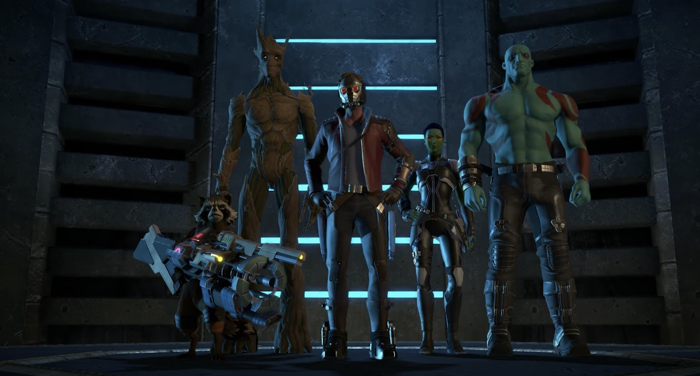 The Guardians in Marvel's 'Guardians of the Galaxy: The Telltale Series""