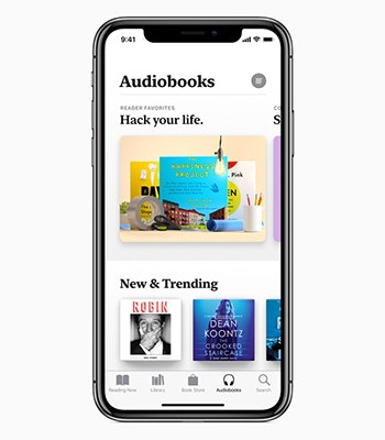 apple books audiobook menu tab