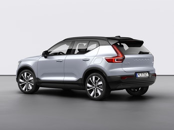 The Volvo XC40 from the rear.