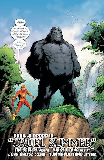DC The Flash Gorilla Grodd Cruel Summer