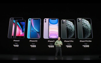 iPhone lineup.