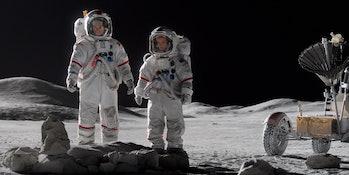 Joel Kinnaman and Jodi Balfour in Apple TV+ series 'For All Mankind'
