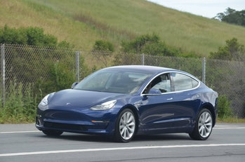 Tesla Model 3 spotted with design tweaks.
