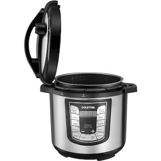 Gourmia Smartpot Steel Pressure Cooker - 6 Qt