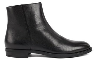 ITALIAN-MADE ZIPPED ANKLE BOOTS WITH SHEARLING LINING BY HUGO BOSS