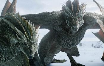 Game of Thrones Season 8 Episode 1 dragons watching