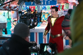 Shazam Behind the Scenes Zachary Levi