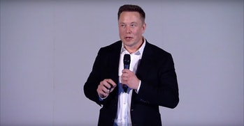 Musk on stage.