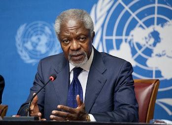 Kofi Annan in 2012.