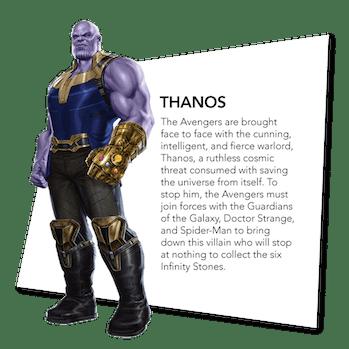Thanos's 'Infinity War' bio.