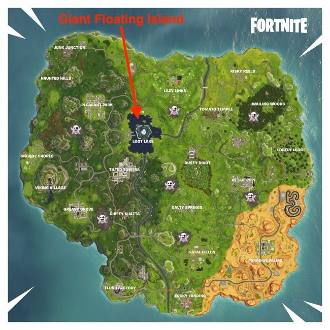 'Fortnite' Season 6 Map
