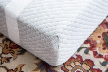 The Leesa mattress, with its comfortable cloth cover and signature stripes, is our top pick for how most people sleep.