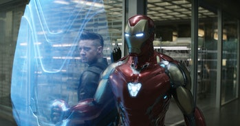 avengers endgame hawkeye iron man