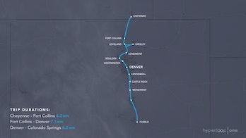 Cheyenne to Pueblo hyperloop