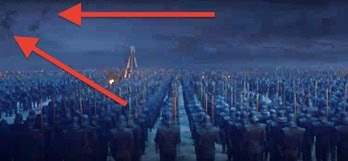 A brightened screenshot from the trailer for 'Game of Thrones' Season 8, Episode 3. spoilers