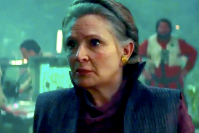 rise of skywalker leia special effects cgi maz interview