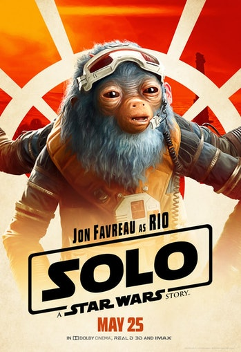 Jon Favreau as Rio Durant in 'Solo: A Star Wars Story'.