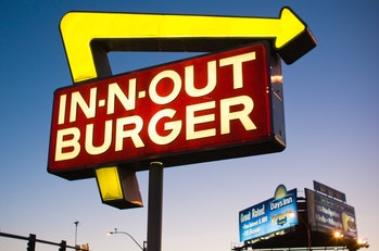 Fast food restaurants often use a red and yellow color scheme.
