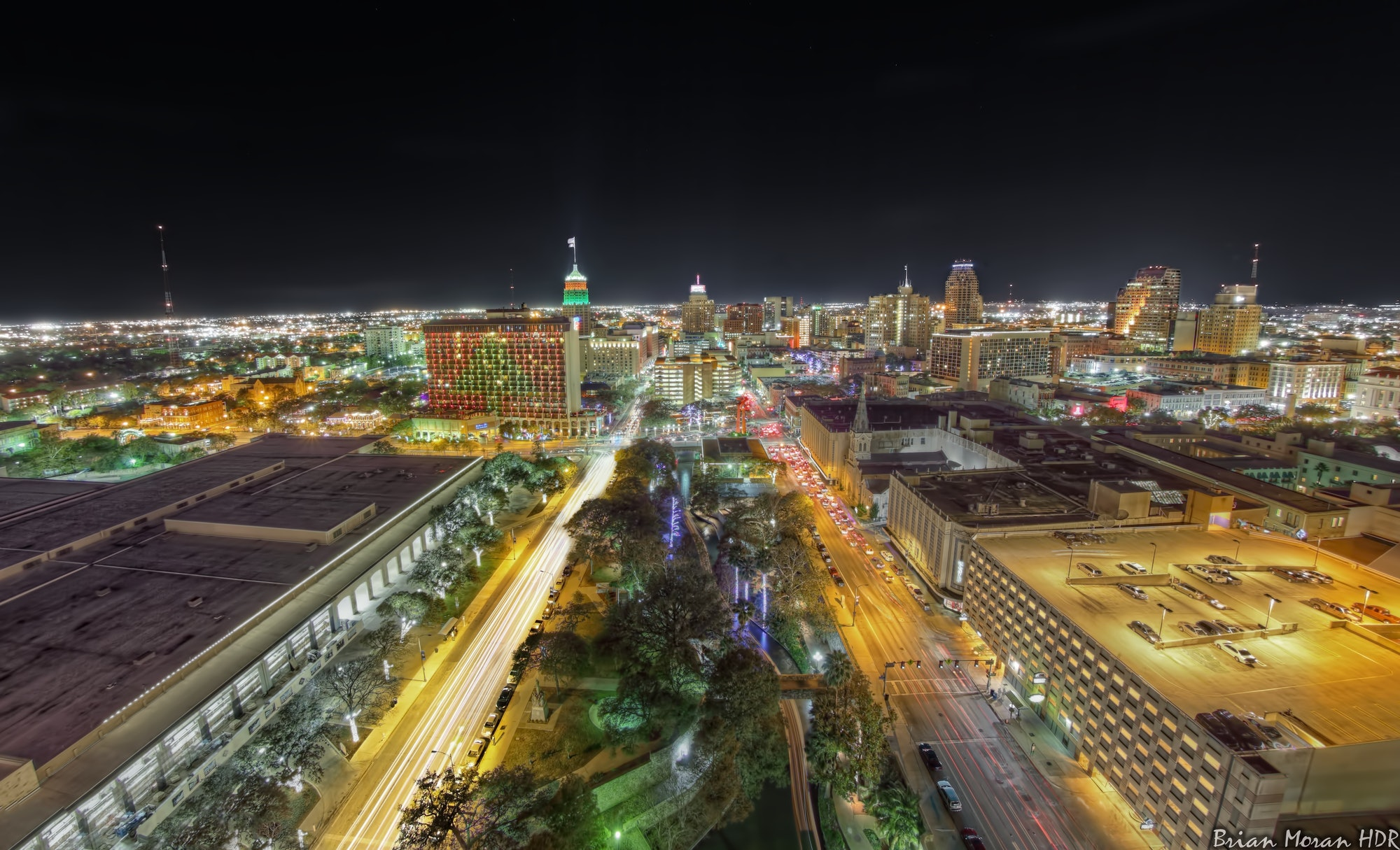 San Antonio Christmas Skyline - 2011