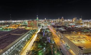 San Antonio Christmas Skyline - 2011