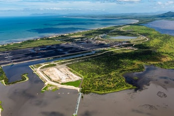 Adani's Abbot Point coal terminal, and the Caley Valley wetlands.