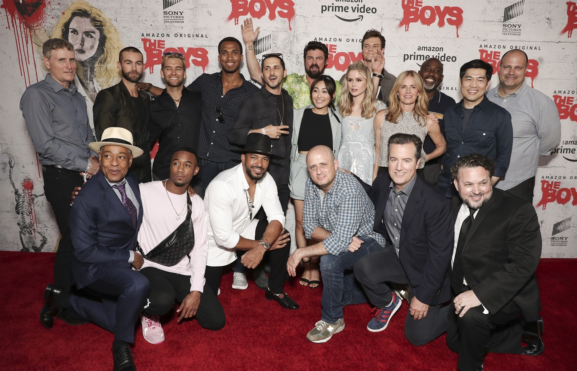 The cast and crew of 'The Boys' at Comic-Con.