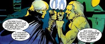 Luke fights clone Palpatine in 'Dark Empire' (1991) Art by: Cam Kennedy