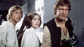 Luke, Leia, and Han in 'Star Wars: Episode IV - A New Hope'