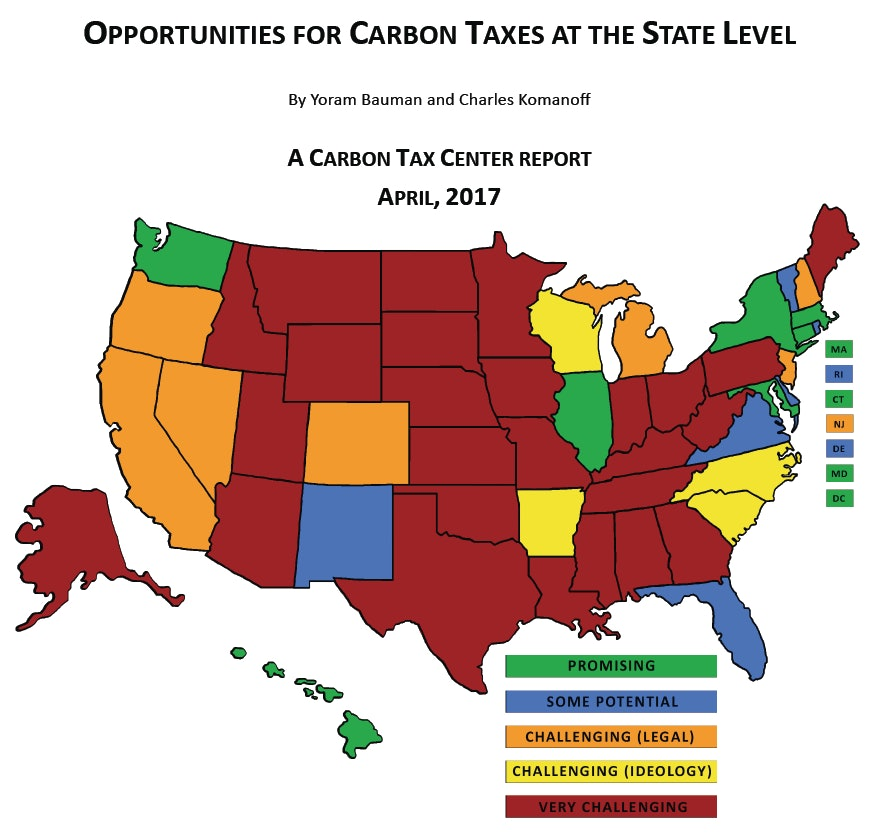 """In a lot of states, a carbon tax is """"very challenging."""""""