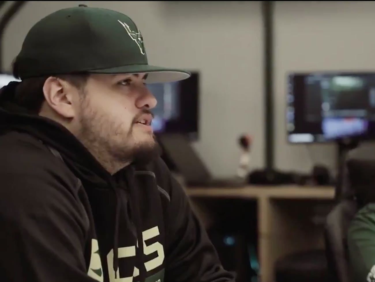 Friends say Timothy Anselimo, who goes by @oLARRY2K in the gaming community, was shot at the Madden tournament on Sunday, an event confirmed by his mother, who asked his supporters to keep him in their prayers. He appears here in a promotional video by BucksGG, an eSports team of which he's a member.