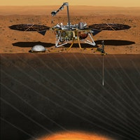 Video Shows the First Spotty Glimpse of Mars Sent Home by InSight Lander