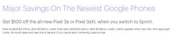 sprint pixel 3a 3a xl google phone deals