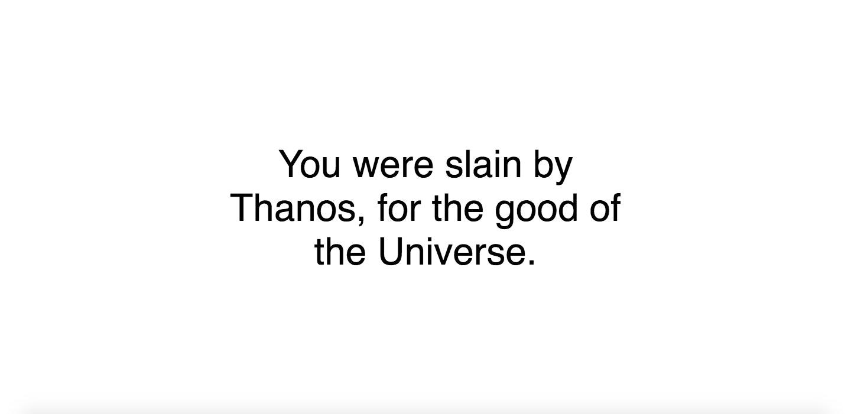 Did Thanos Kill You Avengers