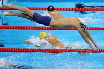 michael phelps vs. great white shark