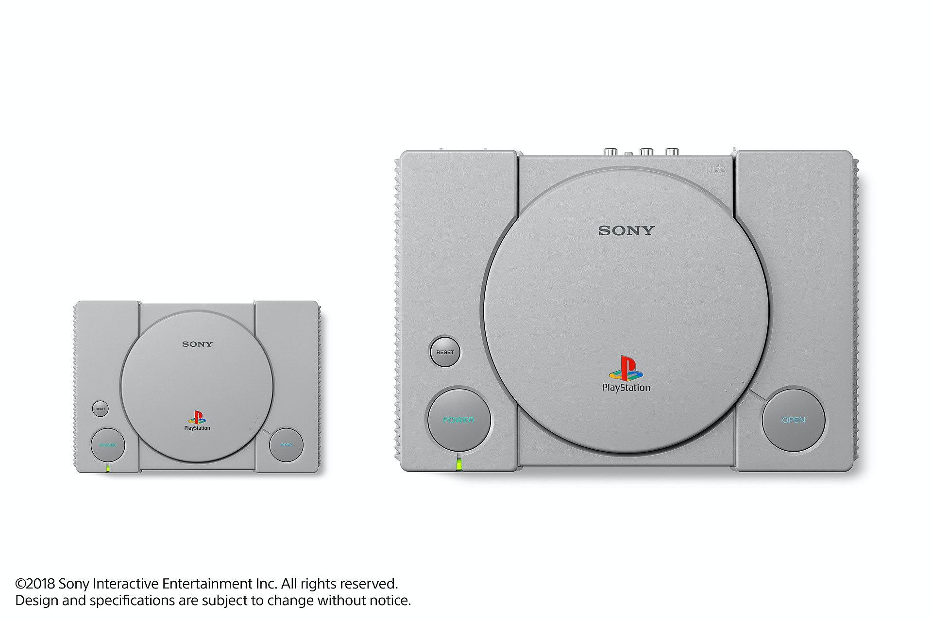 PlayStation Classic alongside the original.