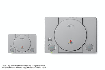 PlayStation Classic alongside the original.