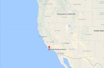 yellowstone map california