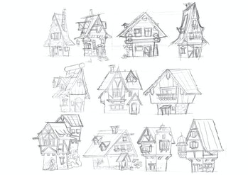 Gerben Steenks'sketches oftraditional German houses.