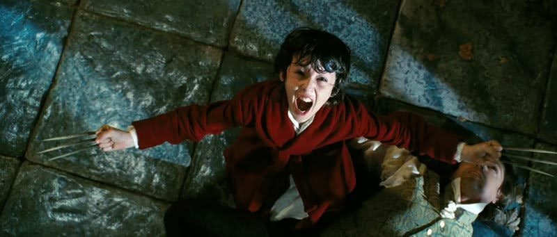 A young James Howlett in 'Wolverine: Origins'