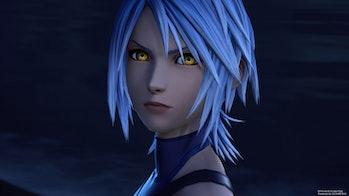 Aqua in 'Kingdom Hearts III' has seemingly been consumed by darkness.