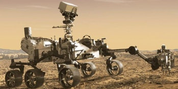 Concept drawing of the as-yet unnamed Mars rover that is scheduled to launch in 2020